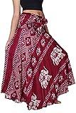 Bangkokpants Women's Long Bohemian Hippie Skirt Elephant Red US Size 0-12