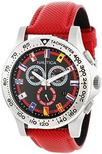 "Nautica Men's N19596G NST 600 ""Flag"" Stainless Steel Watch"