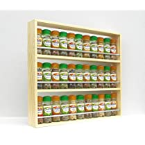 Solid Pine Spice Rack Holds Up To 33 Jars 3 Tiers