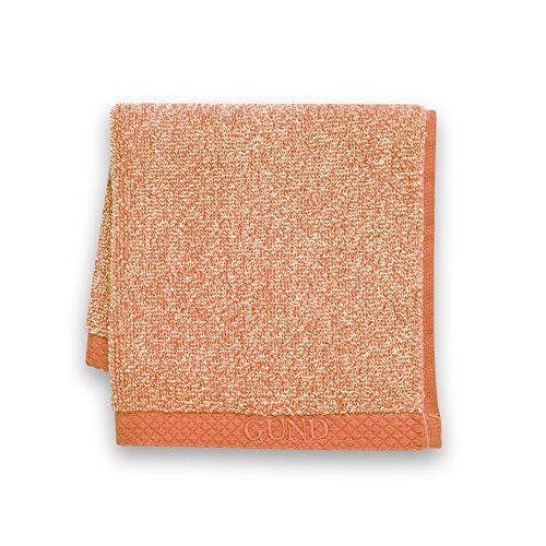 GUND Melange Face Towel, Tangerine, 12'' By 12''