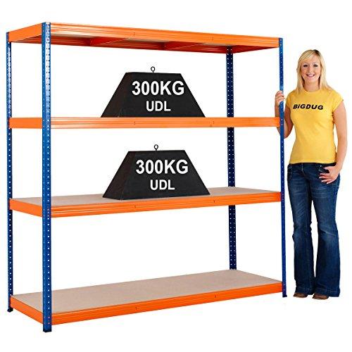 steel-shelving-garage-warehouse-heavy-duty-racking-shelves-300kg-udl-4-levels-2200h-x-1400w-x-600d-m