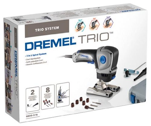 Klopo dremel 6800 outil multifonctions trio coffret 9 for Outil multifonction coupe carrelage