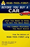 READ-THIS-FIRST: Before You Buy a Car