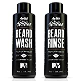 Wild Willies Beard Wash and Conditioner Bundle Packed with Organic Oils and Nutrients to Shampoo and Soften Your Beard, while Peppermint & Eucalyptus Leave An Incredible Tingle. Proudly American Made!