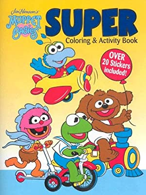 Muppet Babies Super Coloring & Activity Book with Sticker (Jim Henson's Muppet Babies)