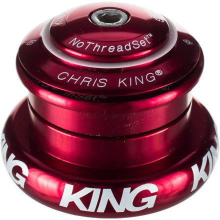 Chris King Inset 7 Headset Red, Tapered Inset