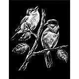 """WASO-Hobby - 4er Scrapy Kratzbilder Set - Vogelmotive / Silber *Gro�*von """"WASO-Hobby"""""""
