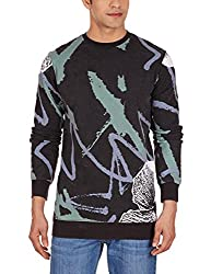 Quiksilver Men's Poly Cotton Sweatshirt (3613370627837_EQYFT03222_Small_Anthracite)