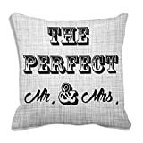 meSleep Perfect Mr And Mrs 3D Cushion Cover (16x16)