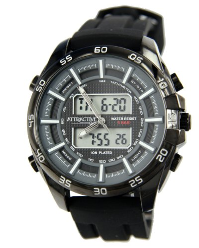 Q&Q Analog-Digital Black Dial Men's Watch - DE08J532Y