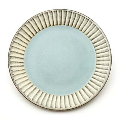 Celadon Plate with Brushwork||RF20F