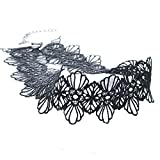 Phenovo Gothic Lolita Hollow Black Lace Choker Collar Necklace Fashion Jewelry