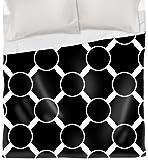 Thumbprintz Duvet Cover, King, Black and White Linked Dots
