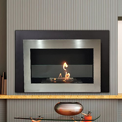 * Drop Sale * Richmond Luxury Stainless Steel Wall Mount Ventless Bio Ethanol Fireplace with Burner Ad 100% Satisfaction Guaranteed