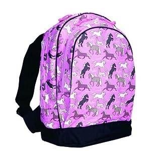 Wildkin Children Kids Outdoor Camping Travel Padded Shoulder School Bags Horses In Pink Sidekick Backpack Pink