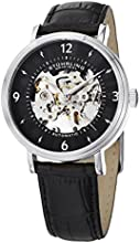 Stuhrling Original Legacy Men's Automatic Watch with Black Dial Analogue Display Interchangeable Black/Brown Leather Straps S647.SET.01