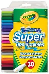 Crayola 20 Super Tips Washable Markers