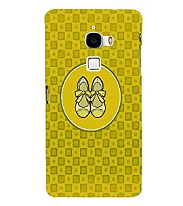 PRINTVISA Abstract Yellow Ladies Footwear Case Cover for LeTv LeMax