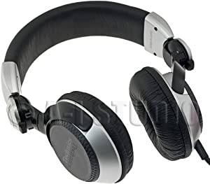 Panasonic Technics RP-DJ1200A Foldable DJ Headphones with Swing Arm System and Coil Cord