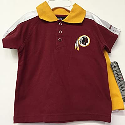 Washington Redskins Red Yellow NFL Infants Polo Shirt & Shorts Set 24 Months