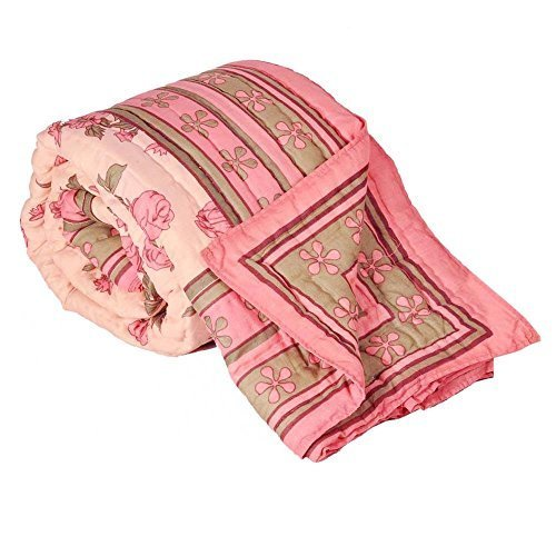 Little India Jaipuri algodón diseño Floral multicolor de funda de edredón para cama de matrimonio