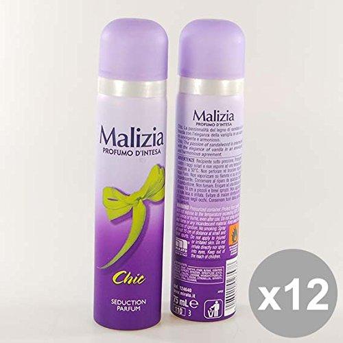 Set 12 MALIZIA Deodorante Donna Spray 75 Chic Deodoranti per il corpo