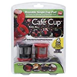 Cafe Cup Single Cup Pod, Reusable, 4 cups