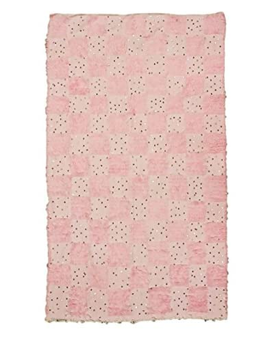 nuLOOM One-of-a-Kind Hand-Knotted Vintage Moroccan Wedding Shawl Rug, Baby Pink, 5' 11 x 8' 4
