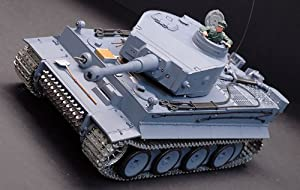 New Metal Tracks Edition 1/16 German Tiger I Airsoft RC Battle Tank Special Metal Tracks Edition w/ Sound & Smoking Effect