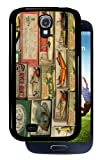 Vintage Fishing Lures - Black Samsung Galaxy S4 Dual Protective Durable Case