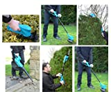 Good Ideas 6 in 1 Cordless Garden Mate (1437) Adjustable Hedge Trimmer, Cutting Shears, Grass Trimmer, Leaf Blower / Vacuum, Hand Held Trimmer and Cutter.