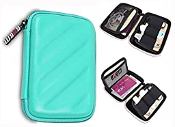 BUBM Electronics Accessories Organizer Travel Carrying Case Digital Storage Bag EVA Series for Various Cables,Cards(LCP,Green)