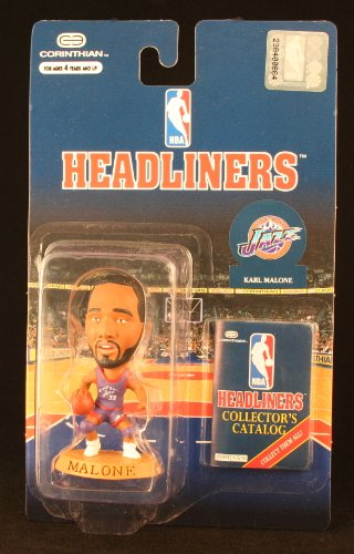 KARL MALONE / UTAH JAZZ * 3 INCH * 1996 NBA Headliners Basketball Collector Figure - 1