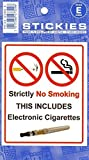 No sigarette elettroniche, No Smoking Sign Sticker Avviso Allarme fermo