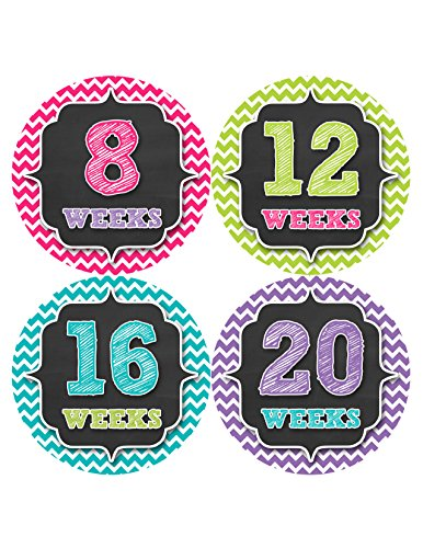 Months in Motion 913 Pregnancy Baby Bump Belly Stickers Maternity Week Sticker
