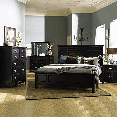 Distressed Black Dresser front-931421