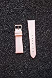 16mm PINK Satin Watchband with Quick Release Pins Michele Style