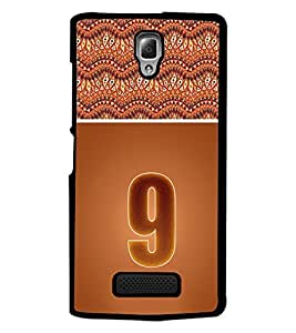 PrintDhaba Numerology Number 9 D-3641 Back Case Cover for LENOVO A2010 (Multi-Coloured)