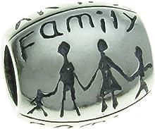 Queenberry broche de plata de ley Love Together Forever Happy familia cuentas para Pandora pulseras de seguridad europeo para pulsera Biagi Chamilia Troll