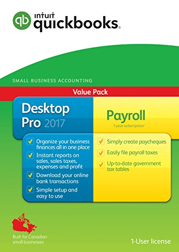 QuickBooks Desktop Pro with Payroll 2017-English Accounting Software 2017