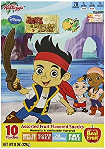 Kellogg's Disney Jake and the Never Land Pirates Fruit Snacks, 8 Ounce (Pack of 10)