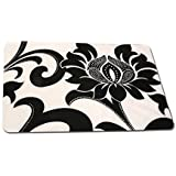 Kuber Industries™ Black & White Print Table Placemats - Set Of 6 Table Mats & 6 Coasters - Plastic Kitchen Linen (Print Might Be Vary As Per Availability) KI26112