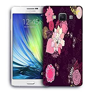 Snoogg vector flower seamless pattern Designer Protective Back Case Cover For Samsung Galaxy ON5