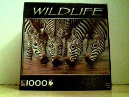 Wildlife - Stripes (Zebras) 1000 Piece Puzzle 28.75