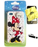 Disney ® Minnie Mouse Flexible TPU SKIN Protector Case Cover (Cute Minnie with Polka Dots!!) for Apple iPhone 4S / 4G / 4 (Fits any carrier AT&T, VERIZON AND SPRINT) + Free WirelessGeeks247 Metallic Detachable Touch Screen STYLUS PEN with Anti Dust Plug