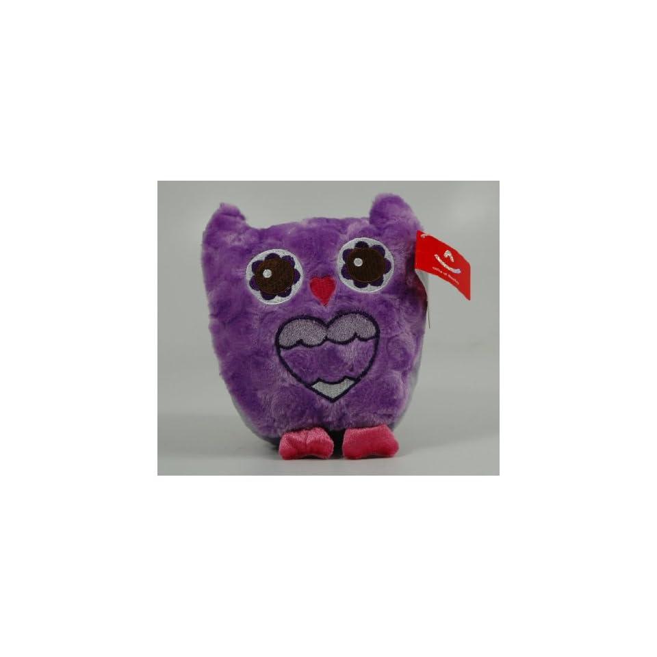 Aurora Hoo Loves You Purple Plush Owl Valentines 5