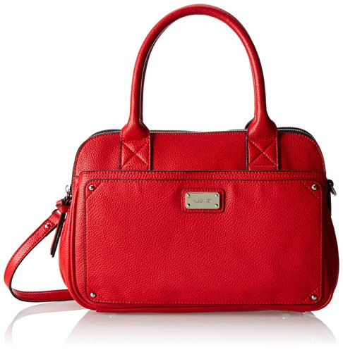Nine West Double Vision Top Handle Bag,Poppy Red,One Size