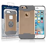 Tech Armor Active Sport Series Case for Apple iPhone 6/6s (Gold-Cool Grey)