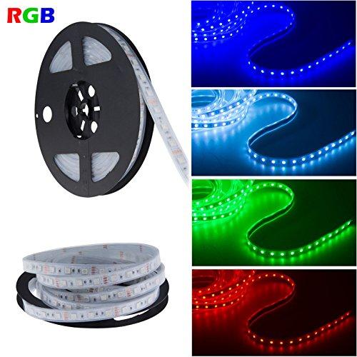 Lemonbest Waterproof 16.4Ft Reel 5050 Smd 300 Leds Strip Light Color Changing Fairy Flexible Lights Strip Decorative Rgb Led Lighting String (5M Rgb Reel) front-252894