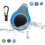 AomeTech Bluetooth Speaker, Waterproof Wireless Bluetooth Shower Speaker Outdoor Portable 3.0 Mini Speaker with Carabiner Showers,Bathroom, Pool, Boat, Car, Beach, and Outdoor Use Handsfree Mic for Iphone 4/4s,Iphone5/5s,Ipad,Ipod,Itouch,NexusSamsung Galaxy(blue)